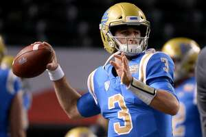 PHOENIX, AZ - DECEMBER 26:  Quarterback Josh Rosen #3 of the UCLA Bruins throws the football prior to the Cactus Bowl against Kansas State Wildcats at Chase Field on December 26, 2017 in Phoenix, Arizona. The Kansas State Wildcats won 35-17.  (Photo by Jennifer Stewart/Getty Images)