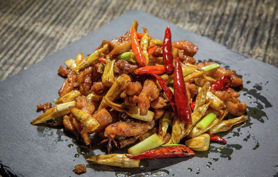Chicken with Panda Bamboo at Mala Sichuan Bistro. The popular Chinatown restaurant specializing in Sichuan cuisine will open in Finn Hall, a food hall set to open downtown in mid-2018. Photo: Nick De La Torre, For The Chronicle / © de la Torre Photos LLC