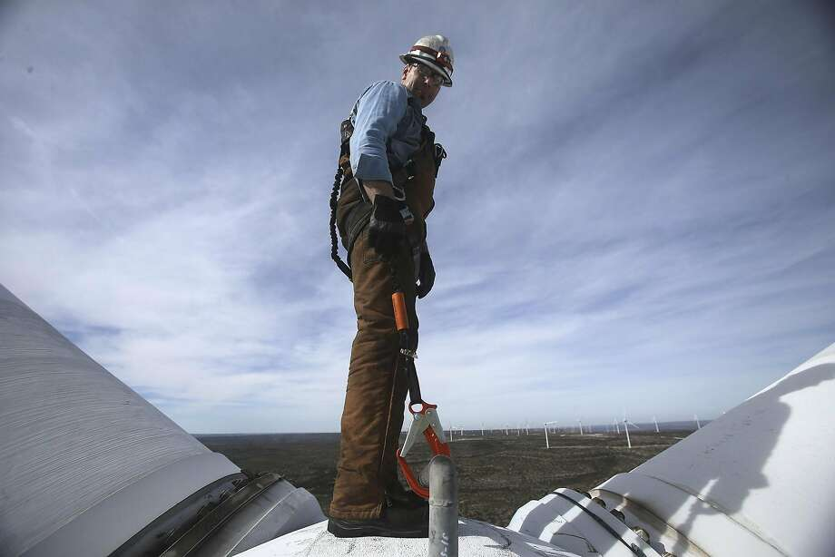 Wind turbine technician  Median salary: $52,260Unemployment rate: 4.9 percentProjected job openings by 2026: 5,600 Photo: John Davenport, San Antonio Express-News