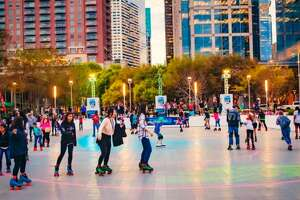 The outdoor skating rink is open at Discovery Green from March 2 through March 25. >>>See free things to do in Houston for spring break.