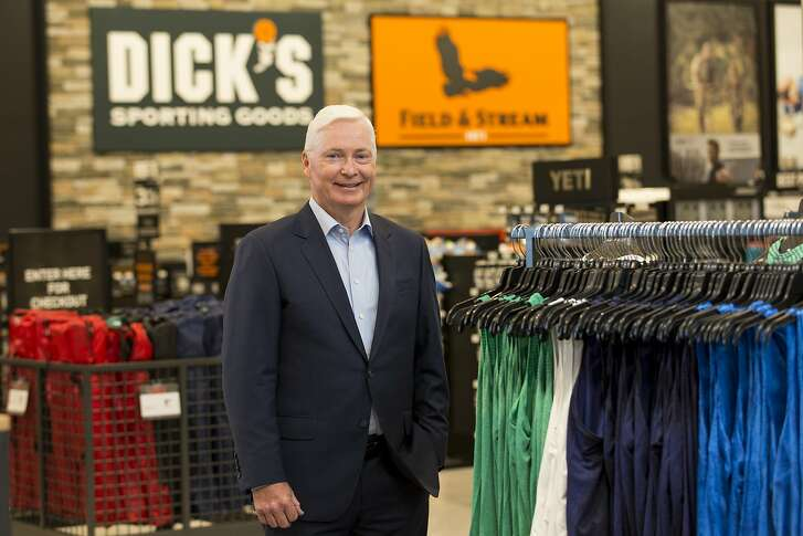 In this Oct. 18, 2016, photo, Chairman and CEO of DICK'S Sporting Goods Edward W. Stack poses for a photo as he visits a new store at the Baybrook Mall in the Houston. Stack is issuing a letter Wednesday, Feb. 28, 2018, about his decision to end the sale of assault-style weapons and high-capacity magazines at stores. (Photo by Scott Dalton/Invision for DICK'S Sporting Goods/AP Images)