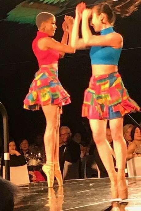 "Hiplet Ballerinas perform at the Asian Art Museum's ""Transformation"" gala. Photo: Leah Garchik, San Francisco Chronicle"