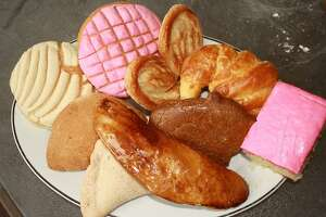 Selection of pan dulce and other pastries from Bedoy's Bakery.