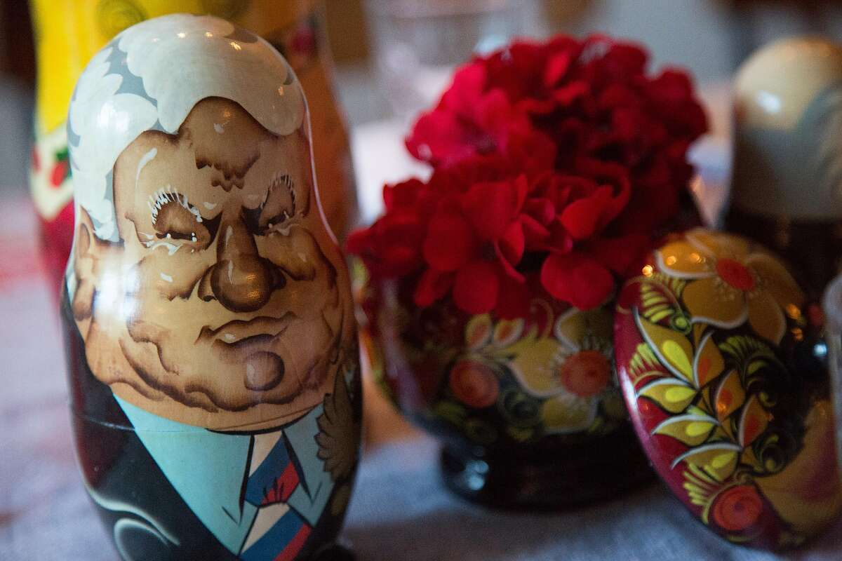 Matryoshka nesting dolls add to the flavor of Vitaly Pale's twice-monthly pop-up dumplings night at Paley's Place in Northwest Portland.