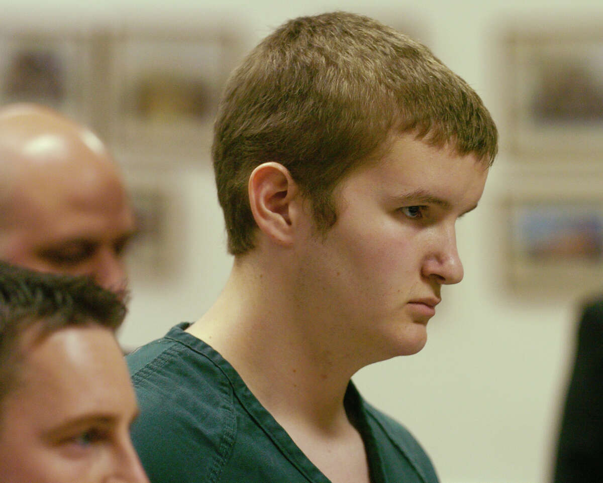 Jon W. Romano stands before the East Greenbush Town Justice and is arraigned for the alleged shooting of a teacher at the Columbia High School on Feb. 9, 2004, in East Greenbush N.Y. (Skip Dickstein/Times Union)