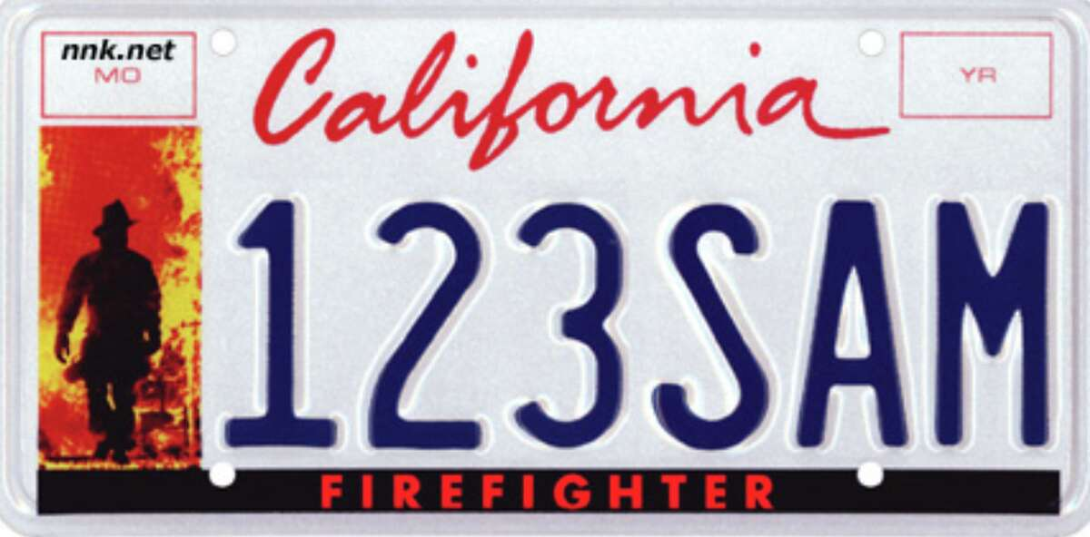 #10: Firefighters: 1,170 The fees collected from Firefighter License Plates are deposited in the California Firefighters' Memorial fund; created and sponsored by theCalifornia Professional Firefighters. The firefighter license plate can only be issued to a currently registered vehicle owned by an active or retired California Firefighter.