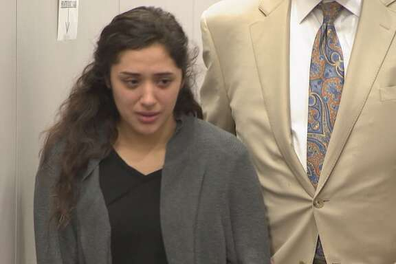 Veronica Rivas appeared in court March 2, 2018. State District Judge George Powell set the conditions of her release, which included a total ban on driving and home confinement unless she has to go to court. She will also have to wear a GPS monitor to ensure she does not leave her home without permission.