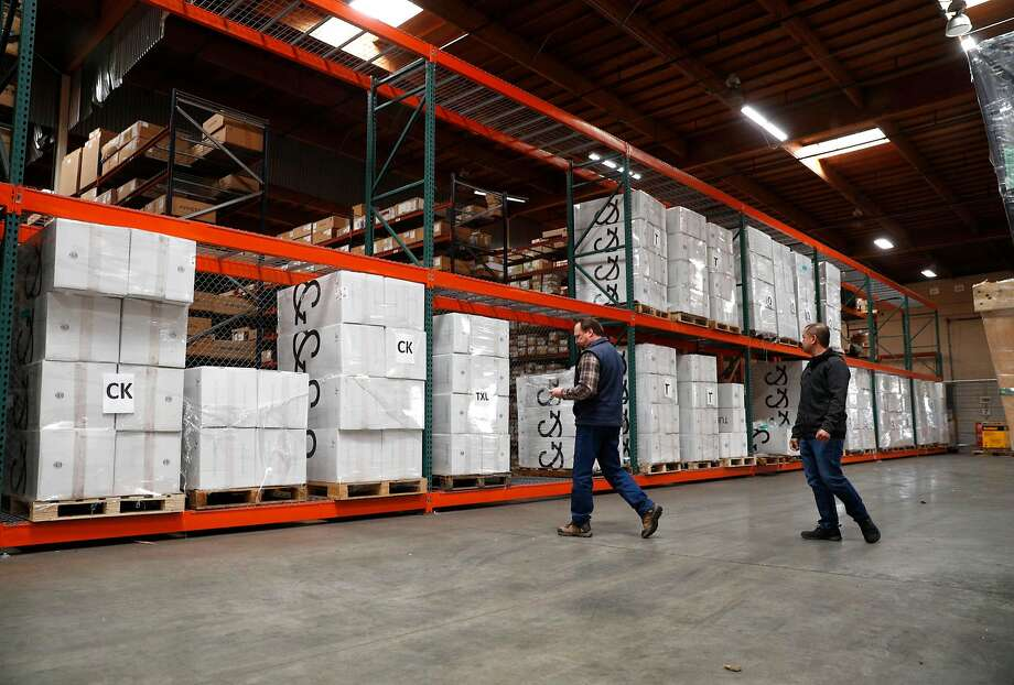 The Darkstore warehouse with products ready for shipment in Hayward . Photo: Michael Macor, The Chronicle