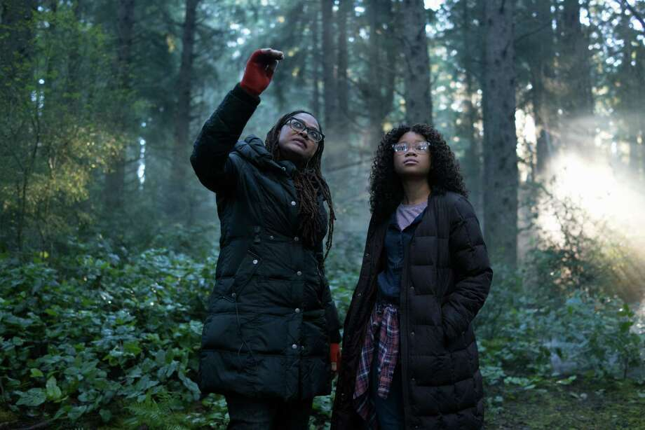 Ava DuVernay on the set of 'A Wrinkle in Time' with actress Storm Reid Photo: Disney / © 2017 Disney Enterprises, Inc. All Rights Reserved.