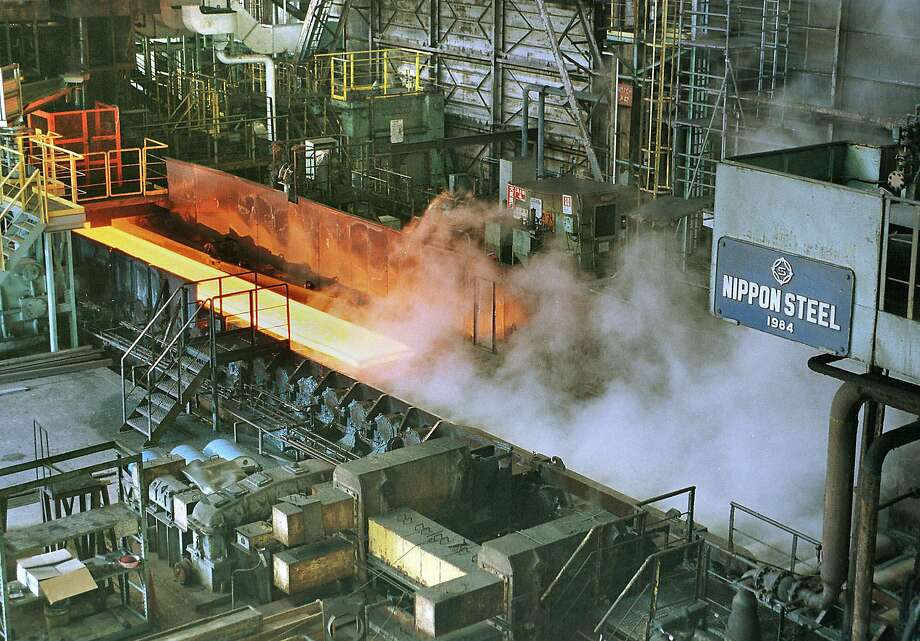 The steel production process at Kimitsu Steel Works in Japan. On Mar. 1, President Trump announced new 25 percent tariffs on imported steel and 10 percent tariffs on imported aluminum, a move that could be the start of a new global trade war. Photo: ITSUO INOUYE, AP