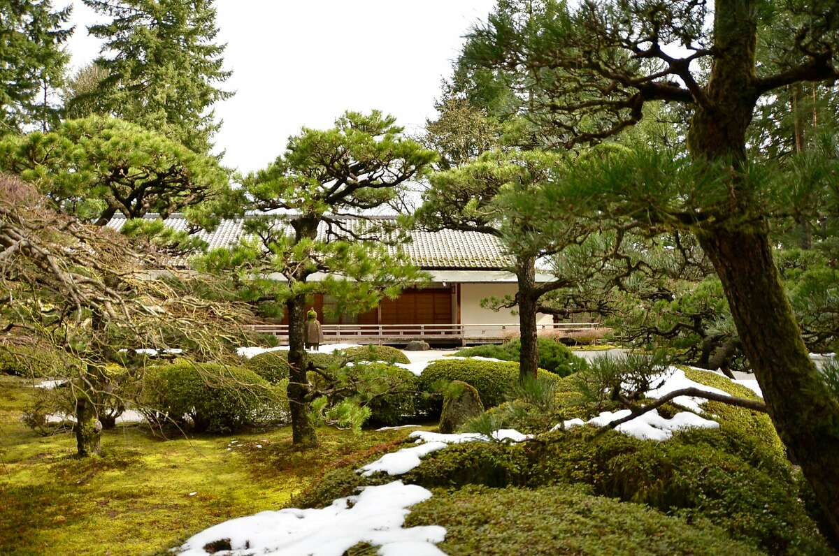 The Japanese Garden's Pavilion Gallery overlooking the Flat Garden.