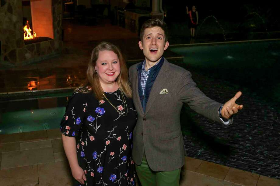 Campaign Manager Mindy Reynolds likes what she hears as Woodlands resident and professional opera singer Ian Ramirez raises his voice to raise funds for the Leukemia &Lymphoma Society. Photo: Courtesy Photo