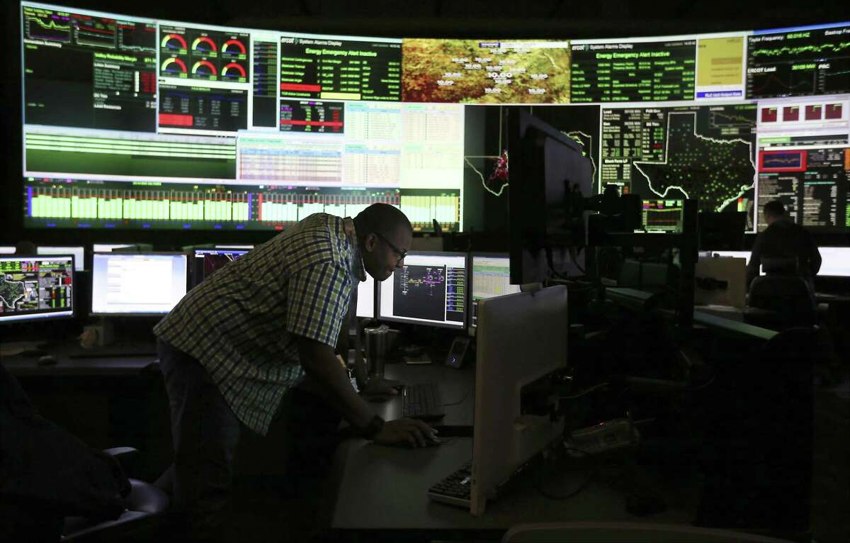 The control center of the Electric Reliability Council of Texas or ERCOT. The state grid operator is predicting record electricity demand coupled with tightening supply in the summer of 2019 as some generation that was expected has been canceled.