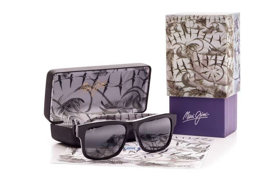"""Charlie Lyon's """"Glide Mingle Blossom"""" triptych provided the patterns for Maui Jim's Curated Collection. Photo: Hand-out, Courtesy Maui Jim"""