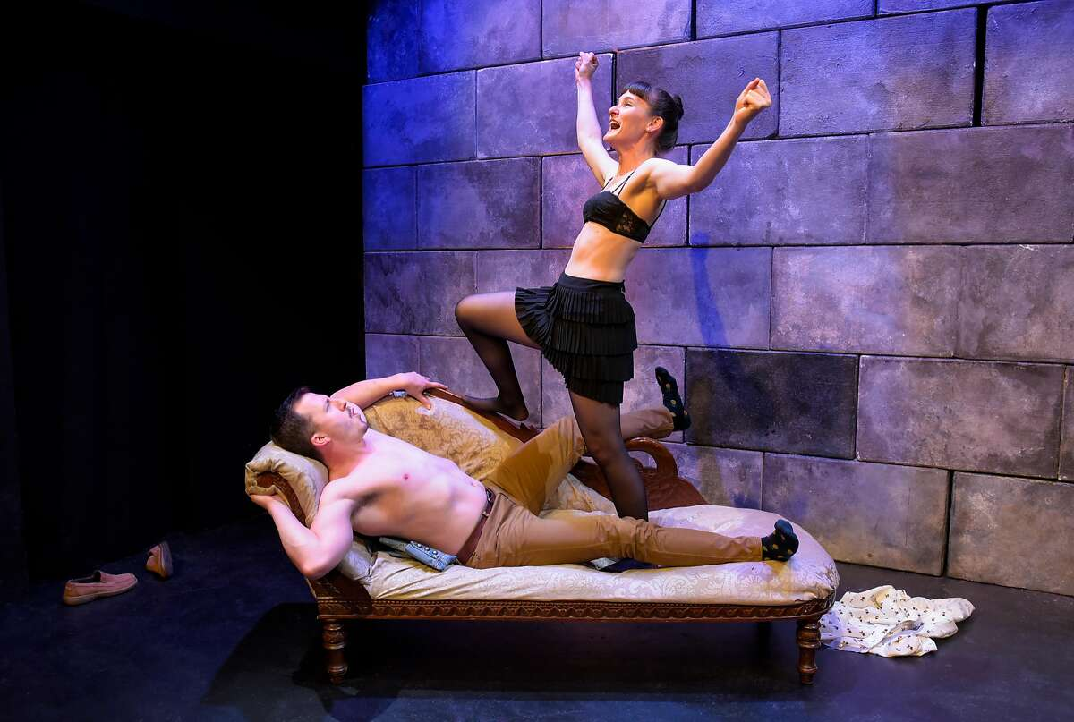 From left:�Soren Santos and Elissa Beth Stebbins in Crowded Fire Theater's