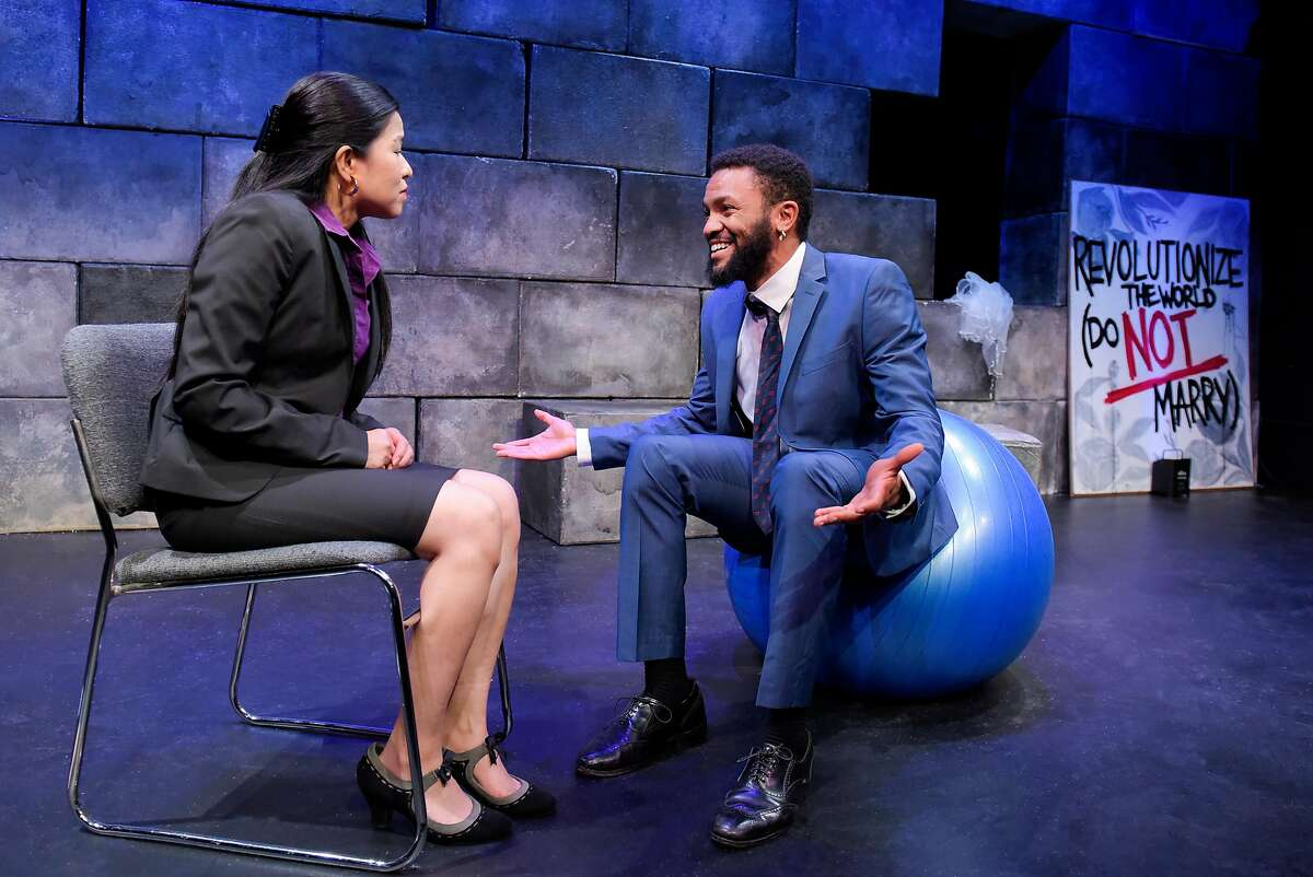 From left:�Karla Acosta and�Gabriel Christian�in Crowded Fire Theater's