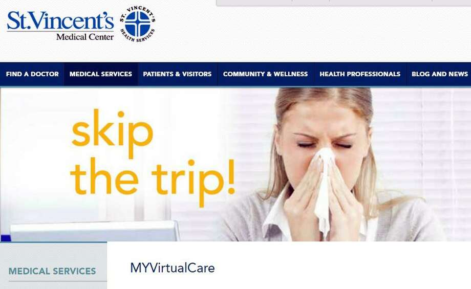 St. Vincent's is one of the latest entities to launch a telemedicine platform. In February, it had a soft launch of MYvirtualcare.com, an online diagnosis and treatment service that connects patients with St. Vincent's clinicians. Photo: Contributed Photo / Contributed Photo / Connecticut Post Contributed