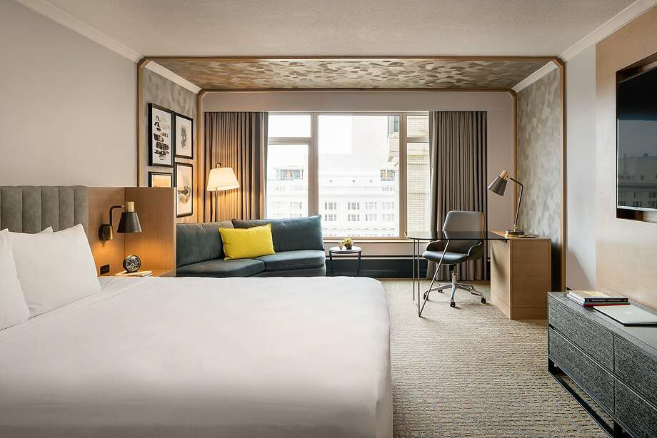 Some of the 20-story Duniway Portland's remodeled rooms provide city skyline views as well as eclectic contemporary decor. Photo: The Duniway Portland