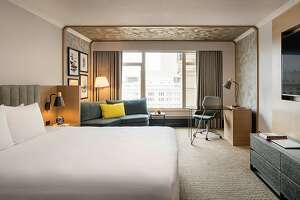 Some of the 20-story Duniway Portland�s remodeled rooms provide city skyline views as well as eclectic contemporary decor.