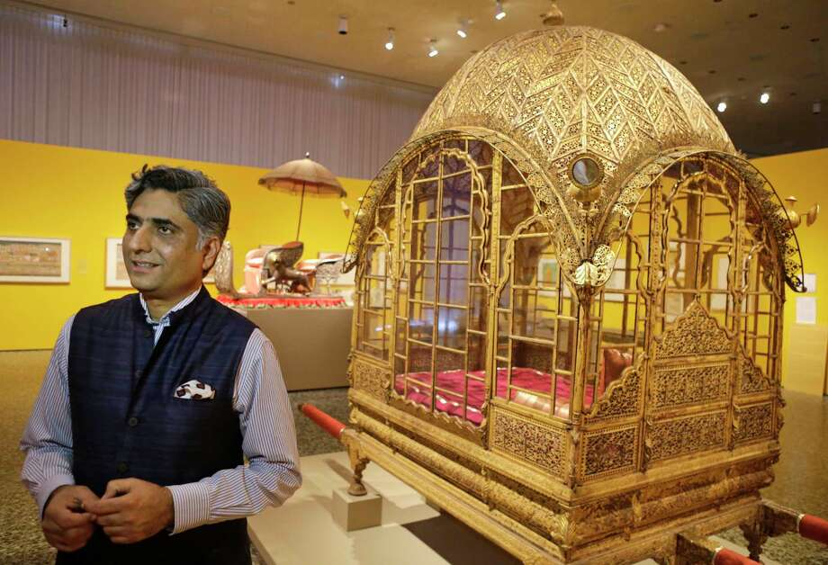 Curator Karni Singh Jasol, who grew up within the Mehrangarh Fort and directs its museum, led the team of scholars who planned Houston's landmark show. Photo: Melissa Phillip, Staff / © 2018 Houston Chronicle