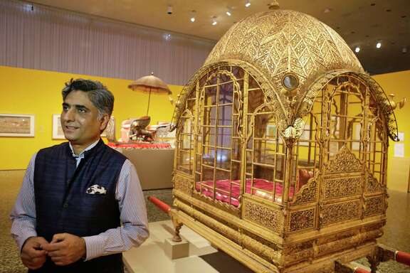 Curator Karni Singh Jasol, who grew up within the Mehrangarh Fort and directs its museum, led the team of scholars who planned Houston's landmark show.