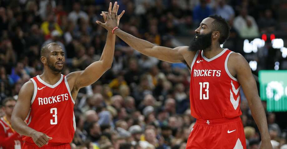 Having veteran point guards like Chris Paul and James Harden is one of the biggest reasons why the Rockets have been successful in road games, coach Mike D'Antoni said. Photo: Rick Bowmer/Associated Press