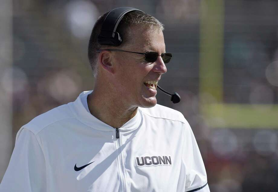 UConn coach Randy Edsall sounded off on rules that leave him worried about the future of college football on the Huskies' final day of winter conditioning in Storrs on Friday. Photo: Associated Press File Photo / AP2017