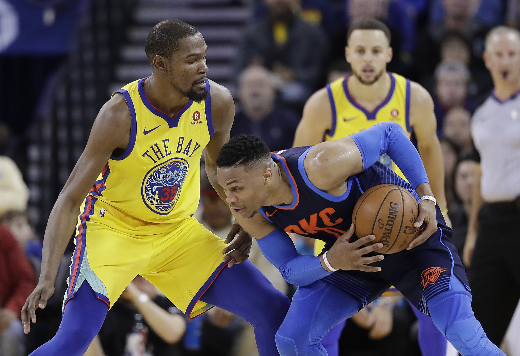 ead3c48ac8e Kevin Durant on possibly playing Thunder in playoffs   It would be a fun  series