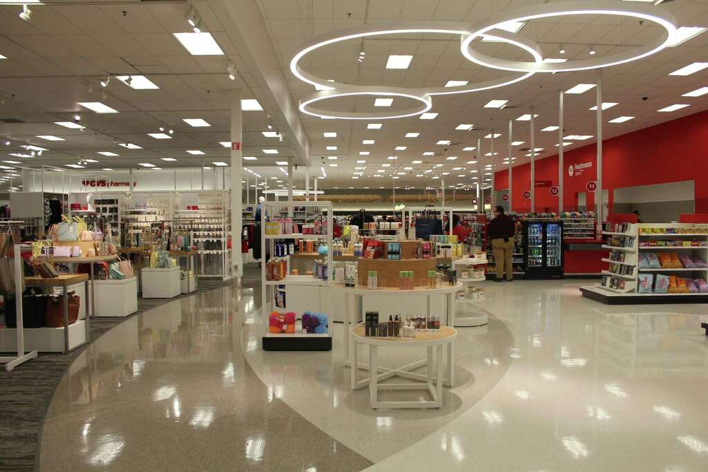The Newly Reopened Humble Target Uses Bold New Light Fixtures To Give  Certain Areas Their Own