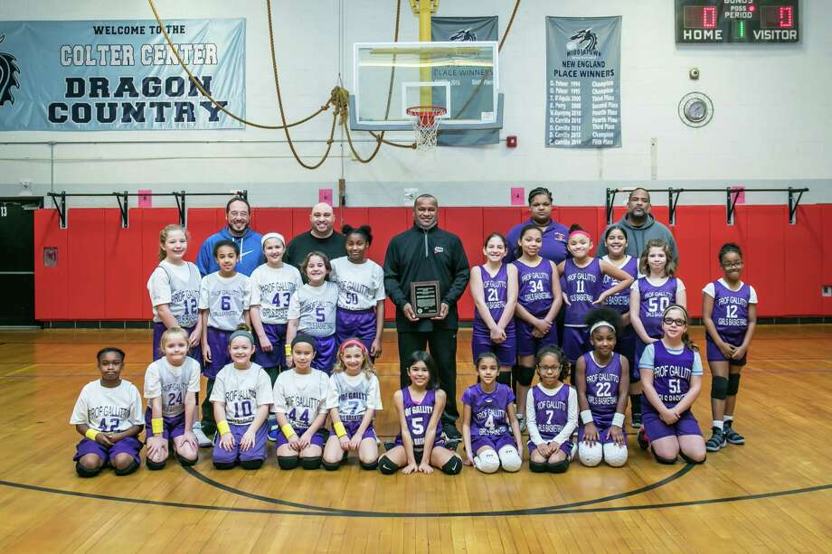 The girls championships for the Prof Gallitto basketball program were held recently. Minuteman Press and Illiano's were the champions. Eddie Hayward White was also honored with a lifetime achievement plaque. Photo: Contributed/ Sandy Aldieri / Perceptions Photography