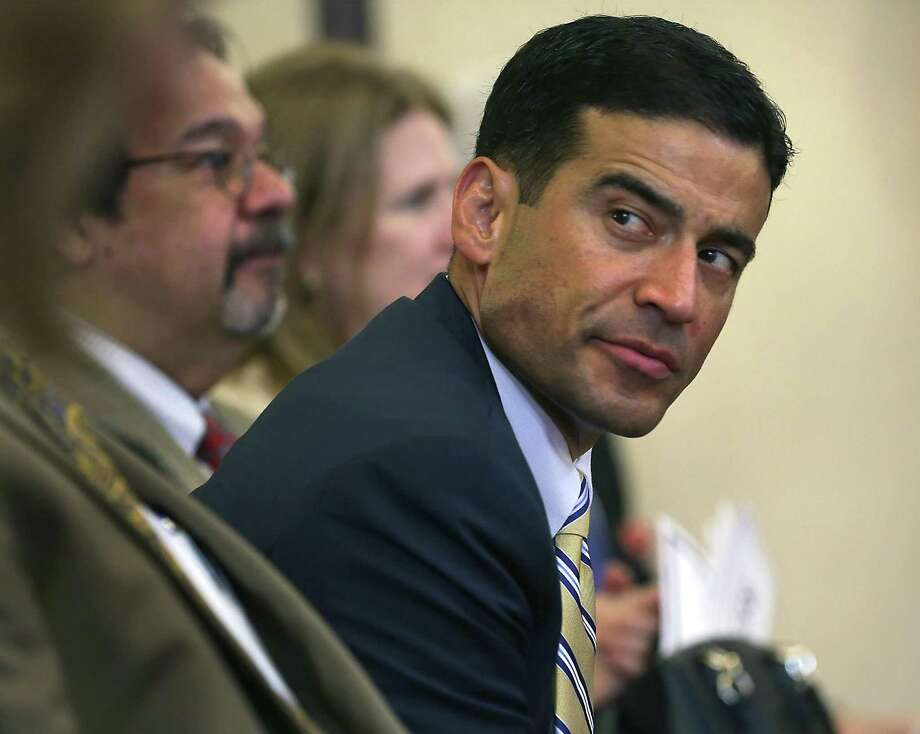 Bexar County District Attorney Nico LaHood attending The Bexar County Early Intervention Program Inaugural Commencement Ceremony at the Bexar County Courthouse Commissioners Court Courtroom on Thursday, April 13, 2017. Photo: Bob Owen, Staff / San Antonio Express-News / ©2017 San Antonio Express-News
