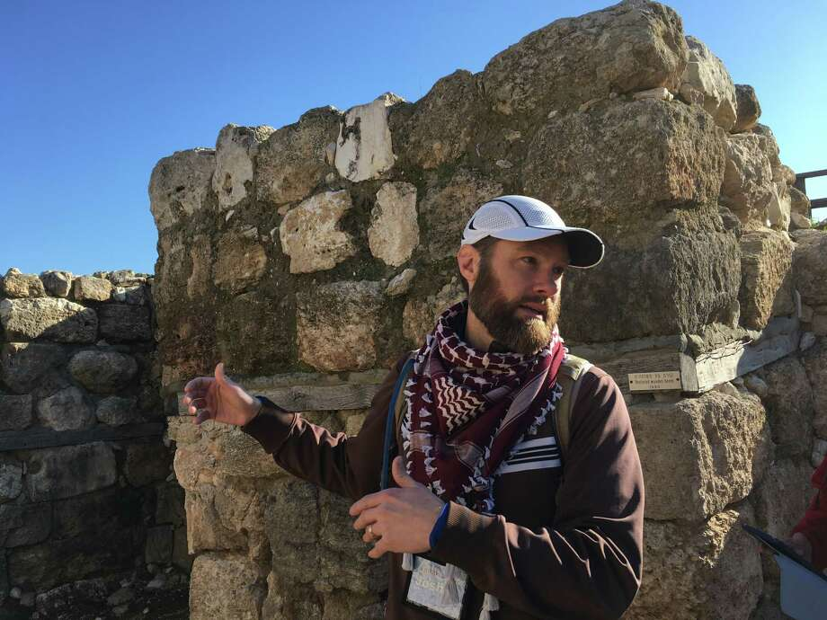 Rev. Joshua Vis leads an interfaith group during a trip to Israel and Palestine in February 2017. (Azra Haqqie / Times Union)