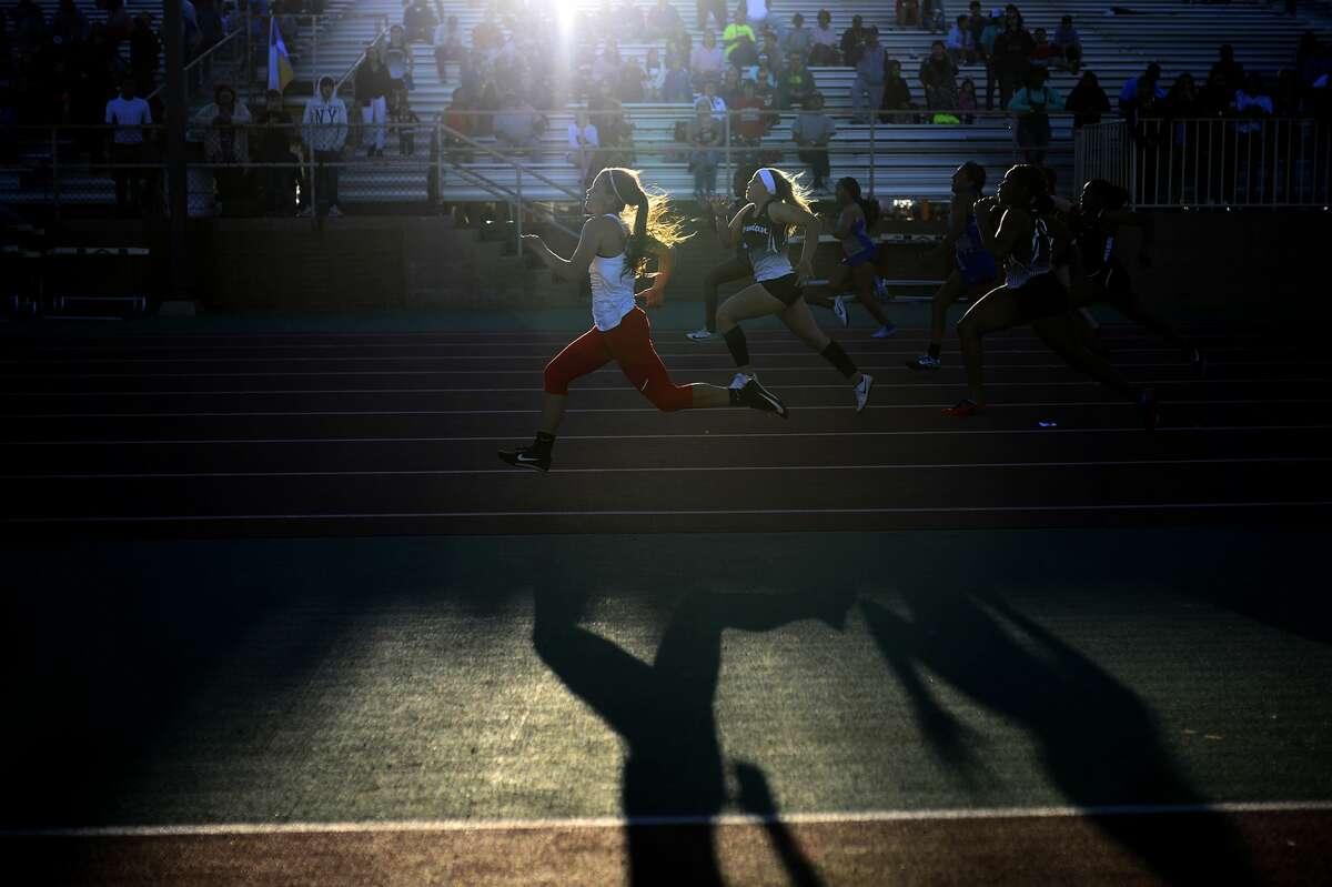 Running event during the Tall City Invitational track meet March 2, 2018, at Memorial Stadium. James Durbin/Reporter-Telegram