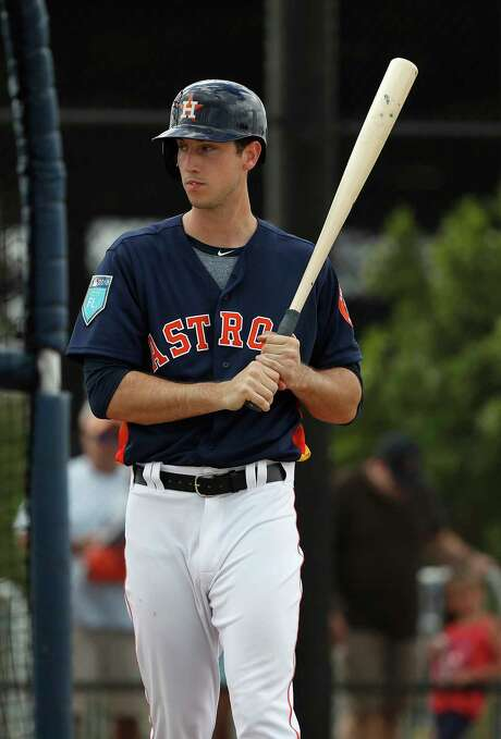 Kyle Tucker is hitting .385 with three homers and eight RBIs in 13 spring at-bats, but manager A.J. Hinch says the 21-year-old phenom has some strides to make in plate discipline. Photo: Karen Warren, Staff / © 2018 Houston Chronicle