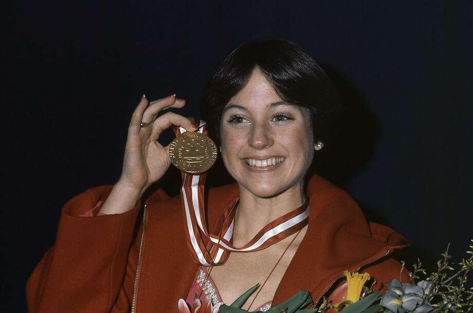 Gold medal winner Dorothy Hamill during the medal presentation for Women Figure Skating on Feb. 13, 1976 in Innsbruck, Austria. Photo: AP File Photo / 1976 AP Associated Press