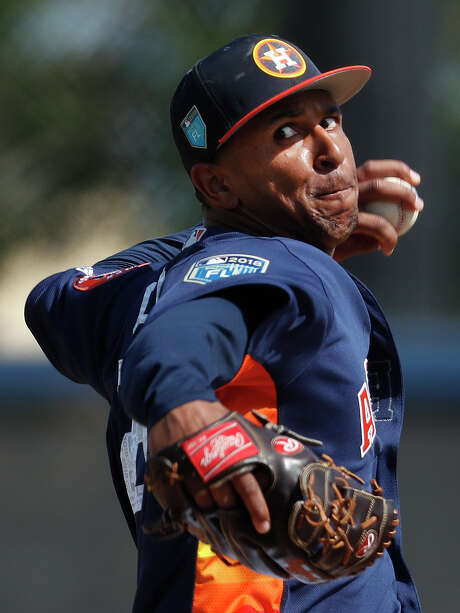 As a Rule 5 draft acquisition, Anthony Gose would have to be returned to the Rangers if he can't stick on the Astros' roster as a lefthanded reliever. Photo: Karen Warren, Staff / © 2018 Houston Chronicle