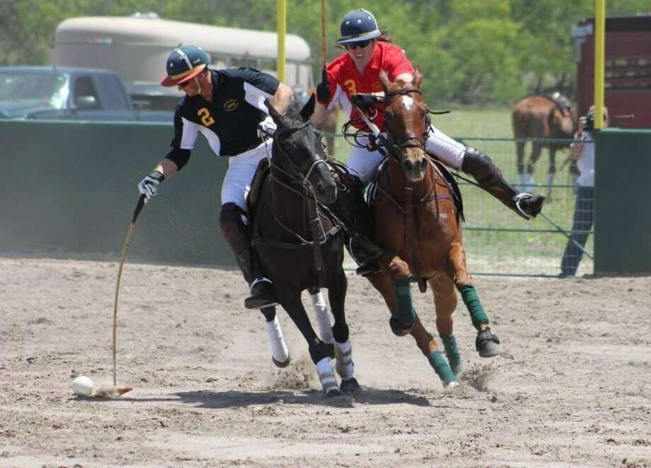 Brady Williams is shown with the ball during action at the Midland Polo Arena. Courtesy photo