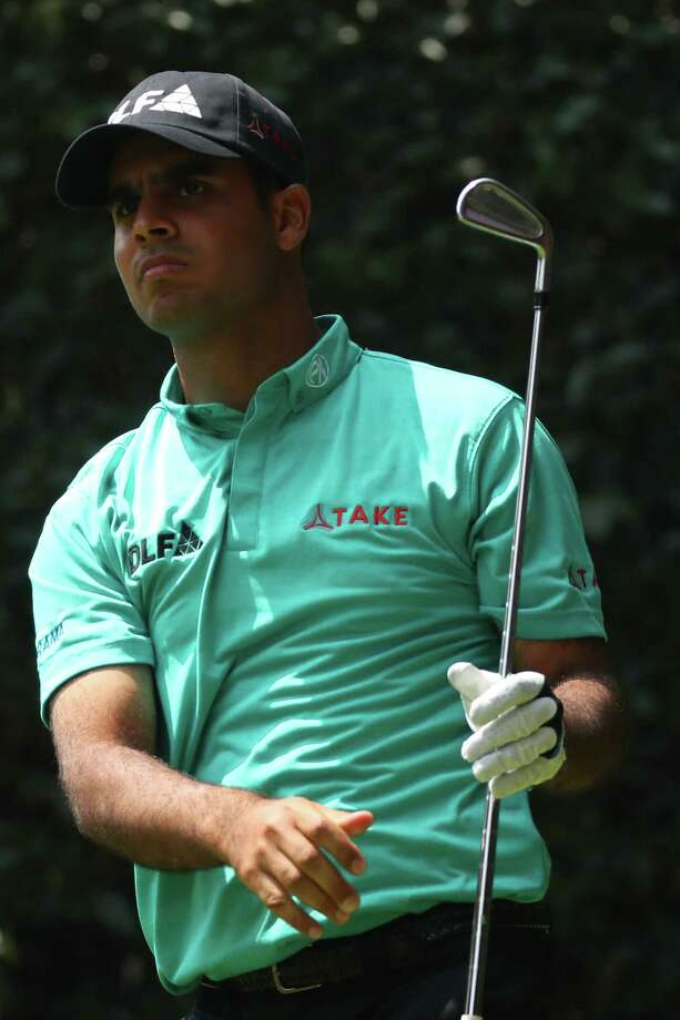 MEXICO CITY, MEXICO - MARCH 02:  Shubhankar Sharma of India plays his shot from the second tee during the second round of World Golf Championships-Mexico Championship at Club de Golf Chapultepec on March 2, 2018 in Mexico City, Mexico. (Photo by Gregory Shamus/Getty Images) Photo: Gregory Shamus / 2018 Getty Images