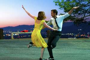 "Emma Stone and Ryan Gosling star in the musical ""La La Land."" The San Antonio Symphony's latest installment of its movie concert series featured the musical."