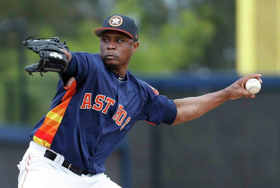 Houston Astros LHP pitcher Tony Sipp (29) as full squad workouts began during spring training day at The Ballpark of the Palm Beaches, Monday, Feb. 19, 2018, in West Palm Beach . Photo: Karen Warren, Houston Chronicle / © 2018 Houston Chronicle