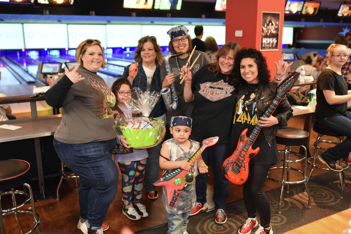 """Bowie Fine Arts bowling team members pose for a photo during the Annual Big Brothers Big Sisters """"Bowl for Kids Sake"""" fundraiser March 3, 2018, at Bowlero. James Durbin/Reporter-Telegram"""