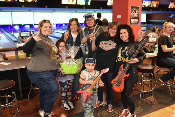 "Bowie Fine Arts bowling team members pose for a photo during the Annual Big Brothers Big Sisters ""Bowl for Kids Sake"" fundraiser March 3, 2018, at Bowlero. James Durbin/Reporter-Telegram"