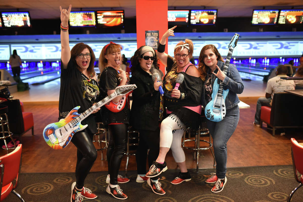 """Parker Elementary bowling team members pose for a photo during the Annual Big Brothers Big Sisters """"Bowl for Kids Sake"""" fundraiser March 3, 2018, at Bowlero. James Durbin/Reporter-Telegram"""
