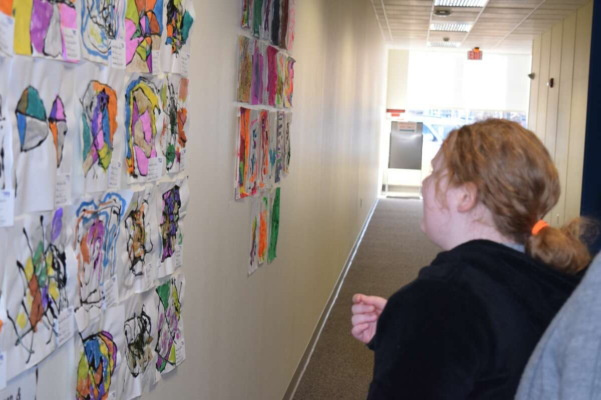 The Regional Office of Education art show was larger this semester after it combined the shows to include pre-kindergarten through high school pieces. Krista Kunz, the event organizer through the Regional Office of Education, said this is the first time the ROE has held one large art show instead of two smaller shows. This is the 11th year of the show and Kunz said they had more than 850 pieces showcased from 11 schools in the area.
