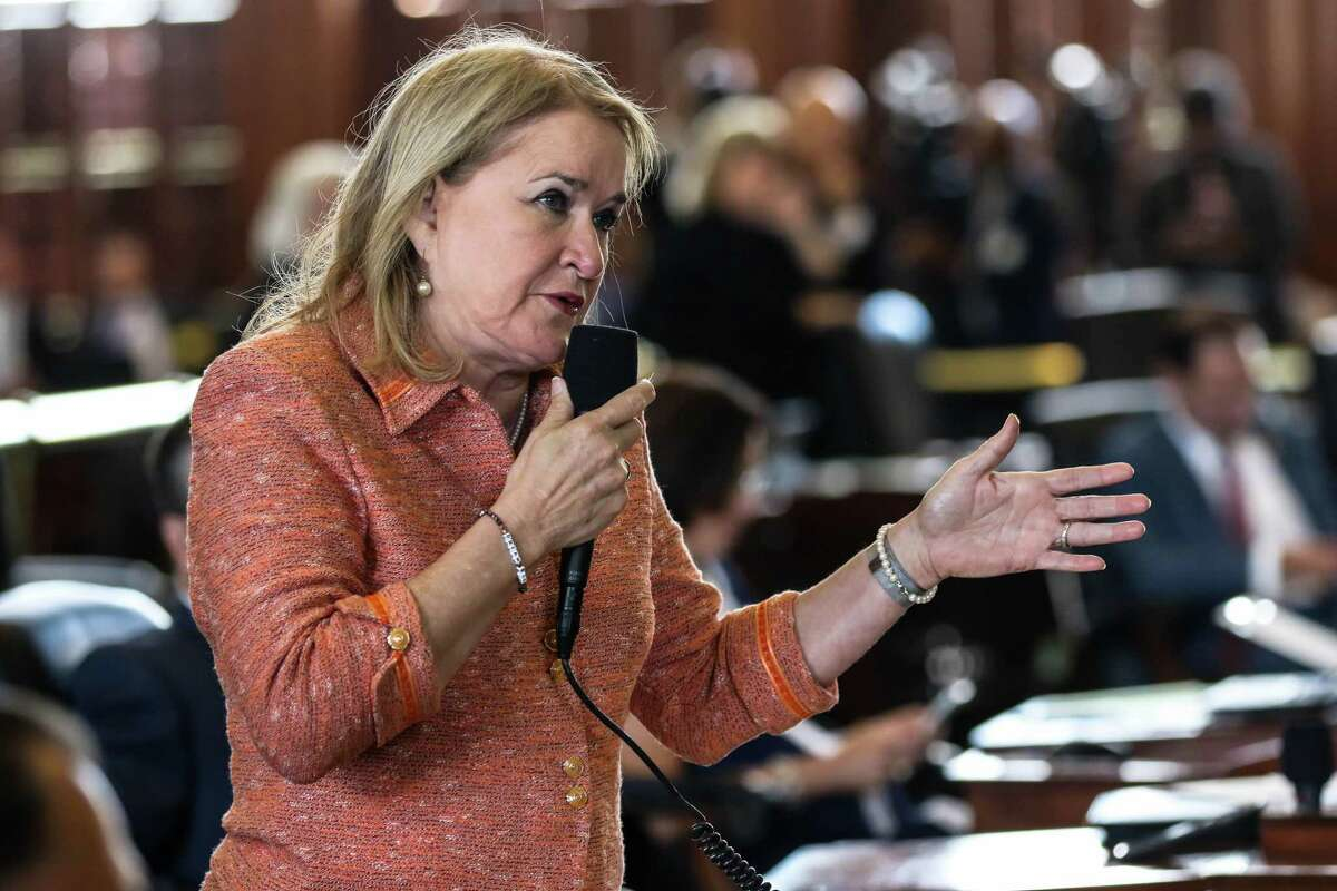 Senator Sylvia Garcia, D-Houston speaks at the Texas Legislature's Special Session on July 18th at the Texas State Capitol in Austin. The Special Session will continue for the next 30 days so lawmakers can discuss bills that fell short during the spring term.