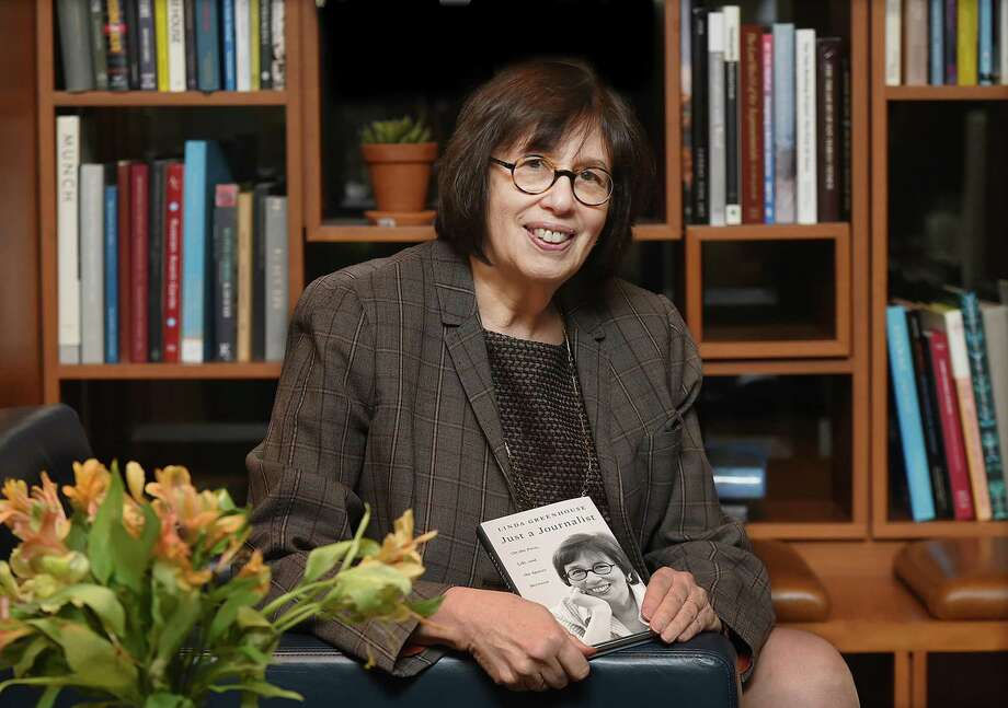 "Journalist Linda Greenhouse photographed at The Study at Yale at 1157 Chapel Street in New Haven on Wednesday shortly before discussing her new book, ""Just a Journalist."" Photo: Catherine Avalone / Hearst Connecticut Media / New Haven Register"