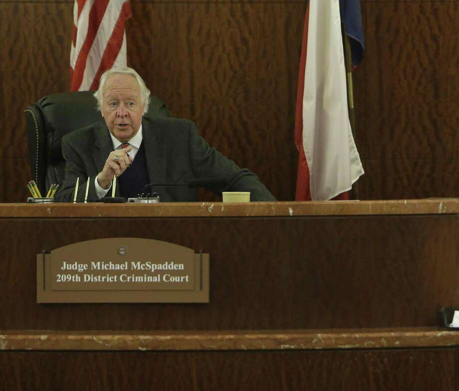 State District Judge Michael McSpadden ( Melissa Phillip / Houston Chronicle ) Photo: Melissa Phillip, Staff / Houston Chronicle / © 2016 Houston Chronicle