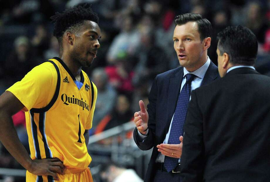 Quinnipiac men's basketball coach, seen here during a game against Fairfield earlier this season, has the Bobcats two wins away from a berth in the NCAA tournament. Photo: Erik Trautmann / Hearst Connecticut Media File Photo / Norwalk Hour