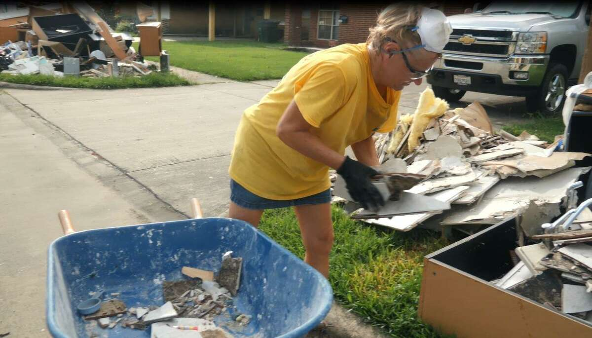 Eight Days of Hope rapid-response volunteers were in the Houston area within 72 hours of Harvey, helping people remove debris from their homes.
