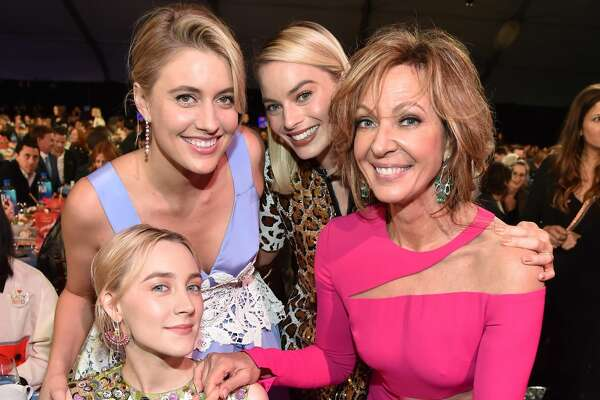 SANTA MONICA, CA - MARCH 03: Saoirse Ronan,  Greta Gerwig, Margot Robbie and Allison Janney attend  the 2018 Film Independent Spirit Awards on March 3, 2018 in Santa Monica, California.  (Photo by Kevin Mazur/Getty Images)